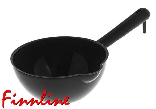 Weigand Saunakelle BIG STEAM BLACK - ca. 1 Liter Fassungsvermögen I Profi - Kelle aus Kunststoff I Schöpfkelle I Saunazubehör I Kübel I Eimer I Sauna I Schwarz