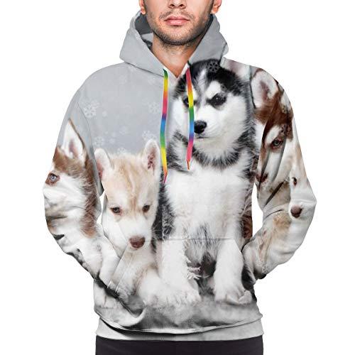Cap clothes Mens Slim Hoodies Pomsky Dog - Pinterest Sweatshirts with Pocket 3XL