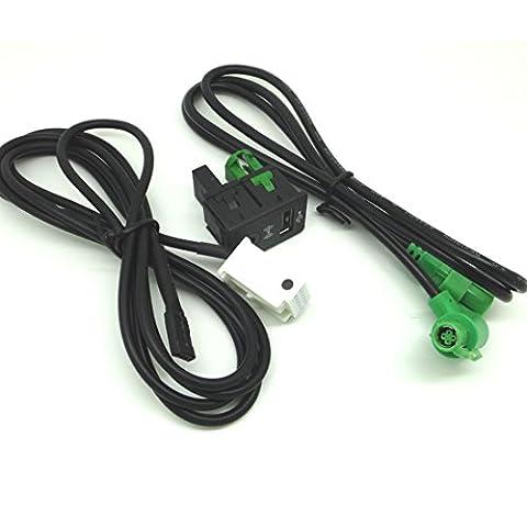 Yihaoel Aux, interrupteur Câble Usb pour Bmw 3 5 Series E87 E90 E91 E92 X5 X6
