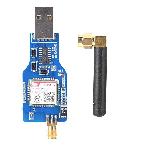 SIM800C USB zu GSM Adapter Modul, USB GSM GPRS Funkmodul Übertragungsdaten TTS Sprachsynthese Kompatibel mit Bluetooth Übertragungsdaten