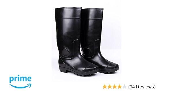 a556c348dbde Hillson SB-008 Century Safety Gumboots, Black, Size 7: Amazon.in:  Industrial & Scientific
