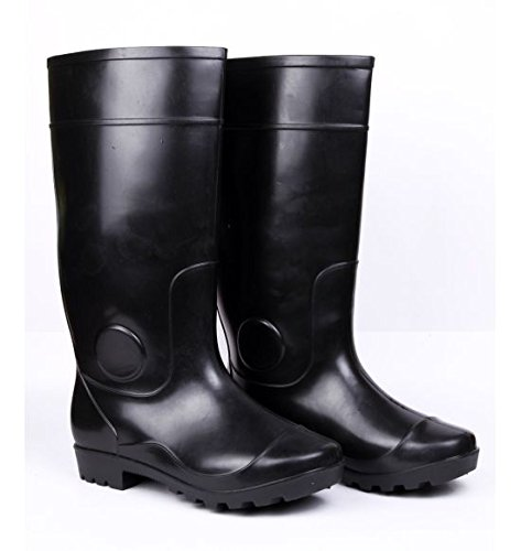 Hillson Century Safety Gumboots, Black, UK Size 8