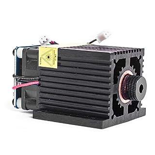 TOPQSC 2,5 Watt 5,5 Watt 7 Watt Laserkopf Blaulichtmodul Diode Für CNC DIY Gravur Schneidemaschine 450nm Fokus Power DC 12 V mit Schutzbrille (2,5 W)