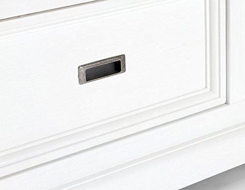 Möbelkultura OLYwohn2w-BC Wohnzimmermöbel, Holz, weiß / braun, 55 x 155 x 185 cm - 4