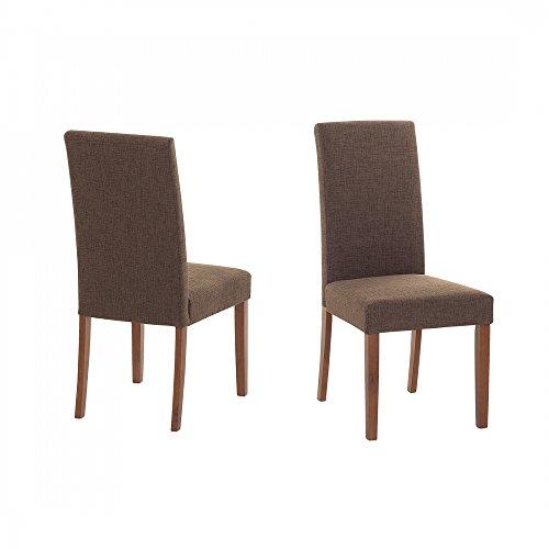 Sedia imbottita marrone - Sedia di design - (Broadway Sala Da Pranzo)