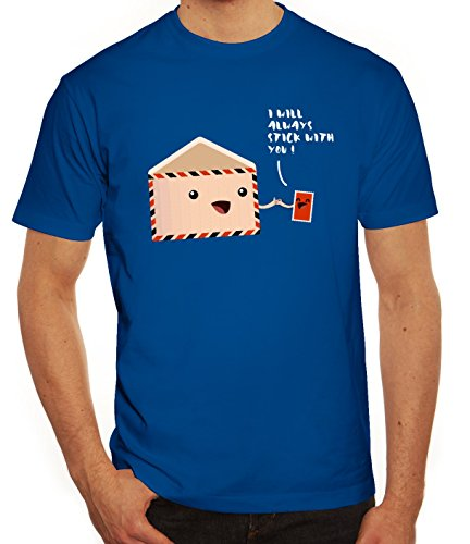 Geschenkidee Herren T-Shirt mit Stick with you Motiv von ShirtStreet Royal Blau