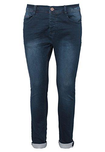 Eight2Nine Herren Sweat-Jeans im Used Look | Black & Dark Blue Sweathose Skinny Fit Dark-Blue