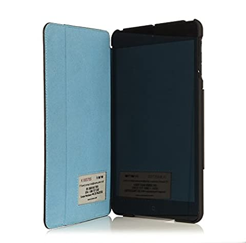 knomo Leather Folio Case for iPad Mini - Black