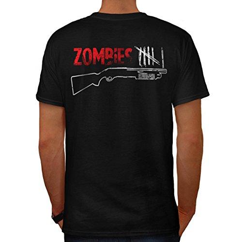 Mörder Gewehr Monster Zombie Gewehr Jäger Herren M T-shirt Zurück | (Jäger Kostüm Kopflose)