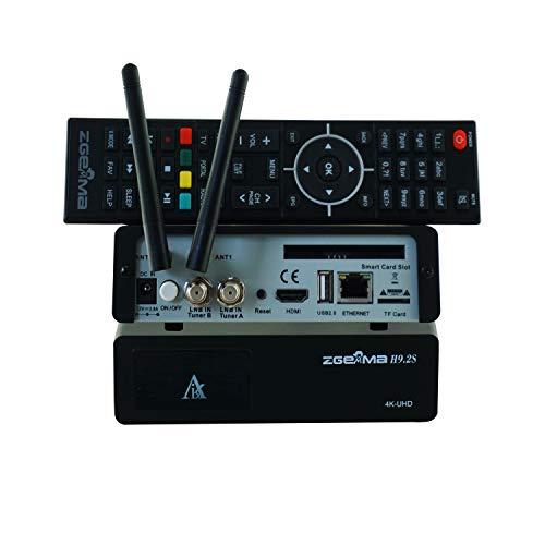 ZGEMMA H9 2S 4K UHD Linux OS Enigma2 FTA Digital 2*DVB-S2X +2*WiFi