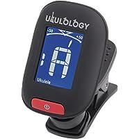 Ukulology: Clip-on Ukulele Tuner (includes Battery & Instructions) (Black)