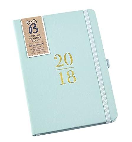 Busy B Parfait agenda planificateur 2018 avec Pochettes autocollants/Bloc-Notes mini