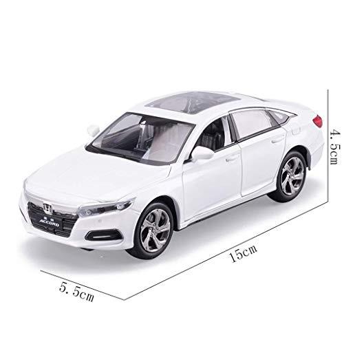 AGWa Modellbausimulation Fahrzeugmodell im Maßstab 1:32 Honda Accord Modell Diecast Spielzeugauto Modell mit Pull Back Sound Licht Auto für Kinder Geschenke Spielzeug (Licht Honda Accord)