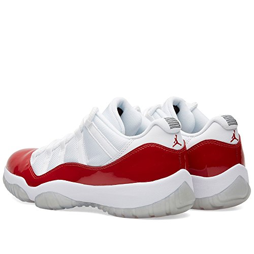 Nike Herren Air Jordan 11 Retro Low Basketballschuhe white/varsity red-black