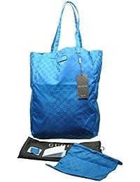 196e4e9949d88 Gucci Mama s Bag 281487 Turquoise Blue Nylon Gg Logo Tote Bag
