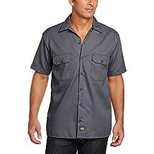 Dickies Short - Camisa para hombre, tamaño 3X Tall, color carbón