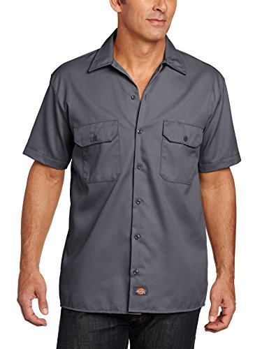 dickies-work-chemise-manches-courtes-homme-gris-oscuro-2xl