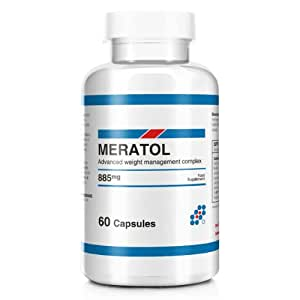 Meratol Advanced Weight Management Metabolism Booster Carb Blocker and Weight Loss Supplement Capsules - Pack of 60