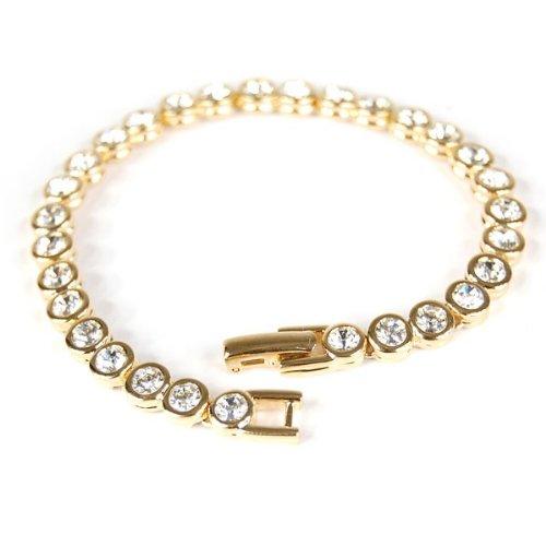 Le BIJOU Tennis-Armband made with CRYSTALLIZED TM - Swarovski Elements, crystal-gold - IM SCHMUCKBEUTEL