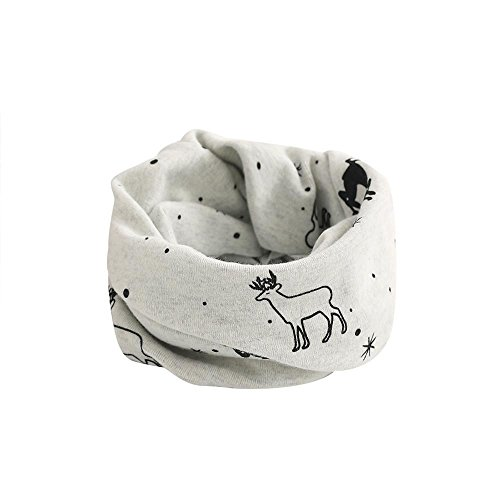 Babybekleidung Schals Longra Herbst-Winter Baby Kinder Schal Tier Muster Nähen O-Ring Wolle Baby Schal Hals Wärmer(2-7Jahre) (Gray) - Hals-wärmer-muster