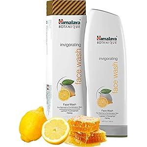 Himalaya Botanique Invigorating Natural Face Wash, 5.07oz/150ml con limón, canela y miel para las pieles normales y…