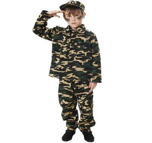 Kinder Armee militärische Kommando Kostüm 7-9 Jahre (Armee General Kinder Kostüme)
