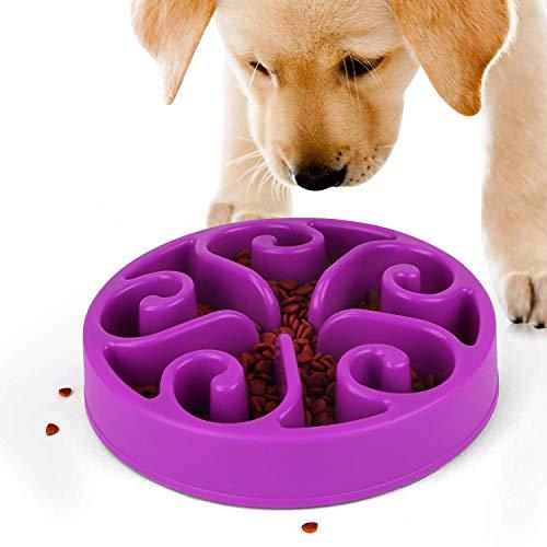 Pupouse Ciotole per Cani Mangiare Lento - Ciotola Anti Ingozzamento Gatto Ciotola Antiscivolo Slow Down Mangiare, Dieta Sana per Cani Gatti (Porpora)