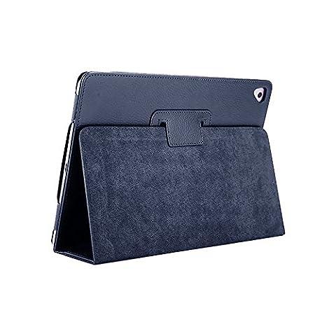 Fansong Aica Série Litchi Stria magnétique ultra mince PU Cuir Smart Cover [support à rabat, fonction de veille] pour Apple iPad Air/Air 2/Pro (9.7