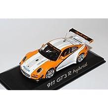 Porsche 911 997 GT3 R Hybrid Orange Weiss 1/43 Minichamps Modell Auto mit individiuellem Wunschkennzeichen