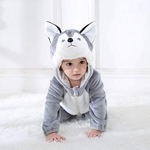 GBYAY Baby Husky Hund Kostüm Cartoon Tier Strampler Infant Kleinkind Overall Halloween Kostüm