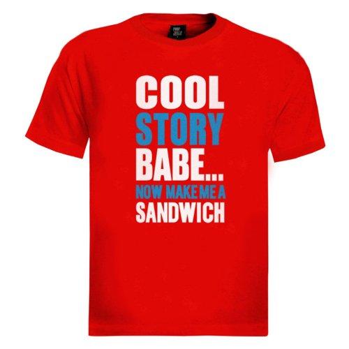 Weiß-Blau Cool Story Babe T-Shirt Rot
