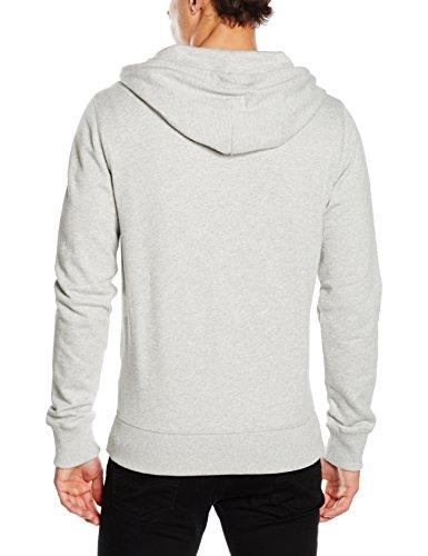 Tommy Hilfiger Herren Sweatshirt Zip Thru Hoody Grau (GREY HEATHER BC05 004)