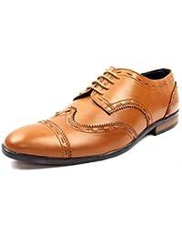 Bancini Tan Brogue Shoes For Men