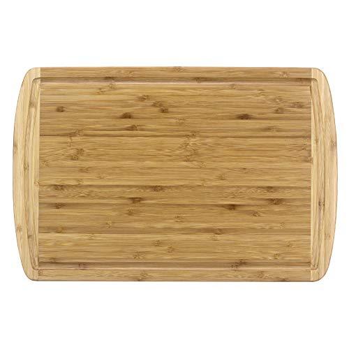 Totally Bamboo Malibu Groove Schneidebrett senkrecht, Korn honig (Totally Bamboo Schneidebrett)