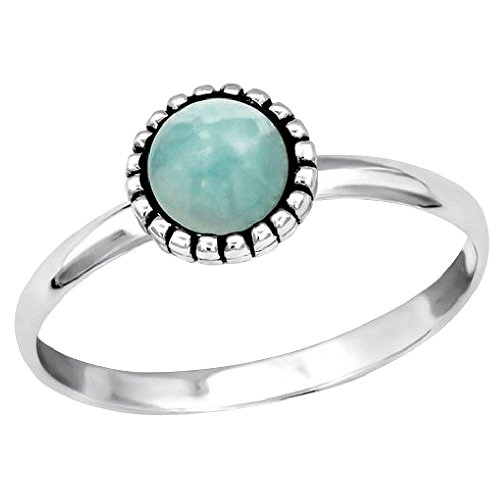 So chic gioielli© anello anello amazzonite verde argento 925