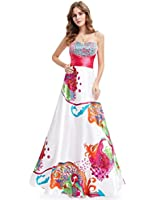Ever Pretty Floral Printed Ruffles Sweetheart Neckline Sequins Party Dress / Prom Gown 09633