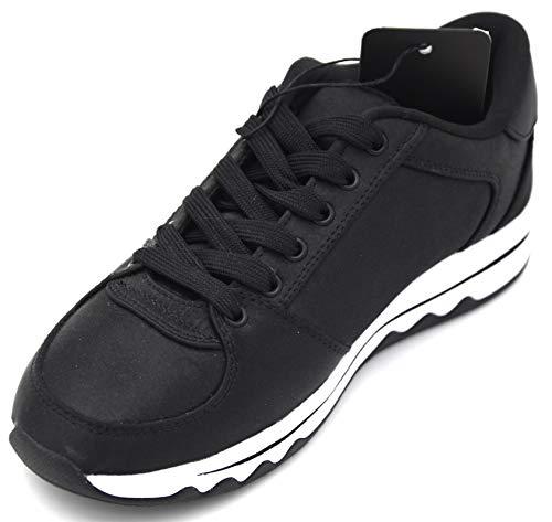 Armani Exchange Damen Turnschuhe Freizeitschuhe Sneaker Casual Art. XDX006 XV051 41 EU - 10M USA - 8 UK Nero Black