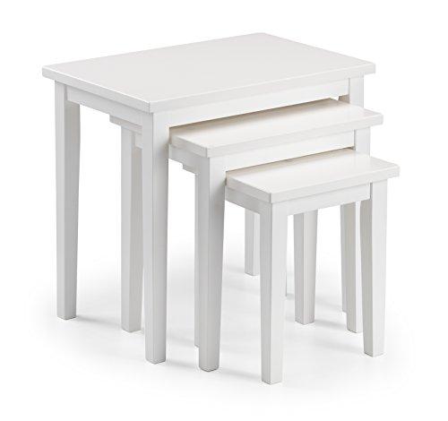 Julian Bowen Tische, verschachtelbar, Holz, Weiß, 33x 48x 46cm