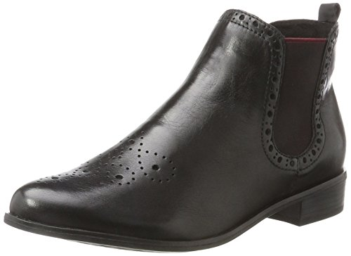 Marco Tozzi Premio Damen 25027 Chelsea Boots, Schwarz (Black Ant.Comb), 38 EU