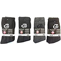 GTI Paquete de 12 Pares de Calcetines Deportivos de Diseño para Hombres en Negro - Nuevo