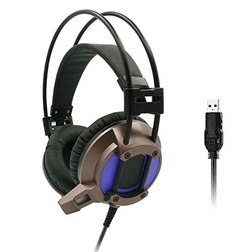 YUNYIN 7.1 Audio Gaming Headset für den PC! LED-Beleuchtung, Ergonomie, Stereo, Fernbedienung, Rauschunterdrückungsmikrofon, Subwoofer, USB-Buchse!-shortmic Circumaural Gaming-headset
