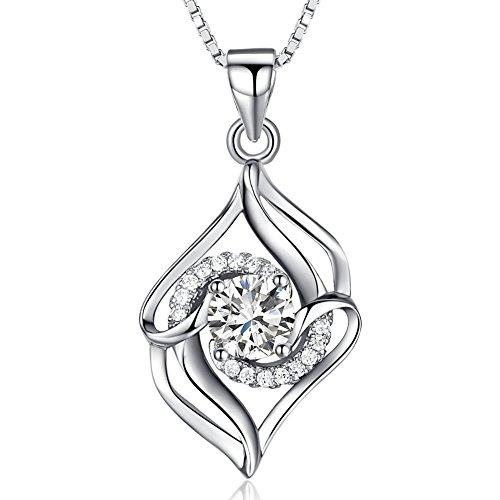 joyfulshine-women-sterling-silver-necklace-cubic-zirconia-double-heart-pendant-necklace-colour-white