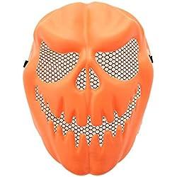 ZzZz Airsoft Visage PlongéE DéGuisements pour Enfants Funny Pumpkin Latex Masque Halloween Party Cosplay Masque Visage Tool Prop Costume