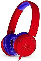 JBL JR300 Kinder-Kopfhörer - Kabelgebundene On-Ear Kopfhörer mit Lautstärkebegrenzung - Speziell entwickelt für Kinder Rot