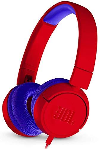 JBL JR300 Kinder-Kopfhörer in Rot - Kabelgebundene On-Ear Kopfhörer mit Lautstärkebegrenzung - Speziell entwickelt für Kinder
