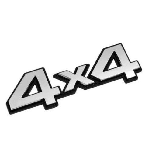 3D07206 - Chrome 3D emblème de la voiture auto adhésif logo caractères (3M auto-adhésif) 4x4
