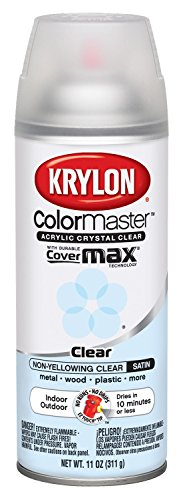 Crystal Finish (Krylon 51313 Satin Finish Crystal Clear Interior and Exterior Top Coat - 11 oz. Aerosol)