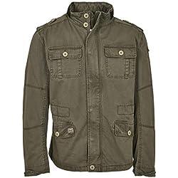 Brandit Veste Leger Britannia Hommes Militaire Veste Style M65 Court ARMÉE, Olive XXL