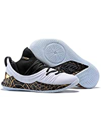 4e64b3413bf UnderArmour Stephen Curry 5 Low White Gold Basketball Shoes for Men