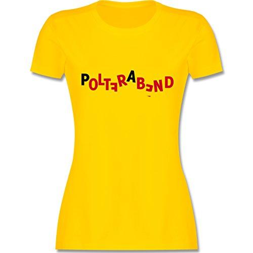 JGA Junggesellinnenabschied - Polterabend - tailliertes Premium T-Shirt mit Rundhalsausschnitt für Damen Gelb